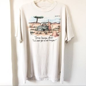 Vtg The Far Side T Shirt 1987 80's Drive George